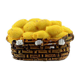 Miniature potato basket 2x3 cm, for 10 cm nativity s3
