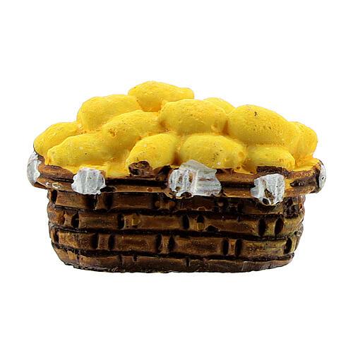 Miniature potato basket 2x3 cm, for 10 cm nativity 1