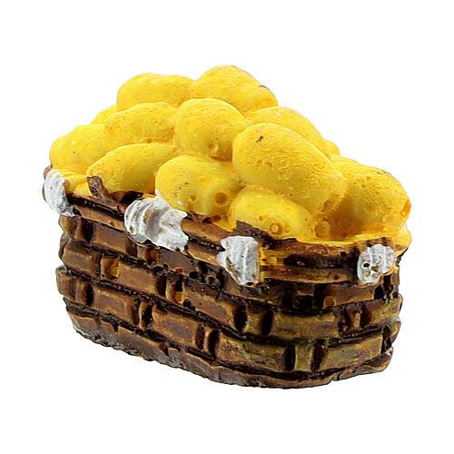 Miniature potato basket 2x3 cm, for 10 cm nativity 2