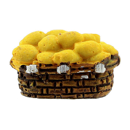 Miniature potato basket 2x3 cm, for 10 cm nativity 3