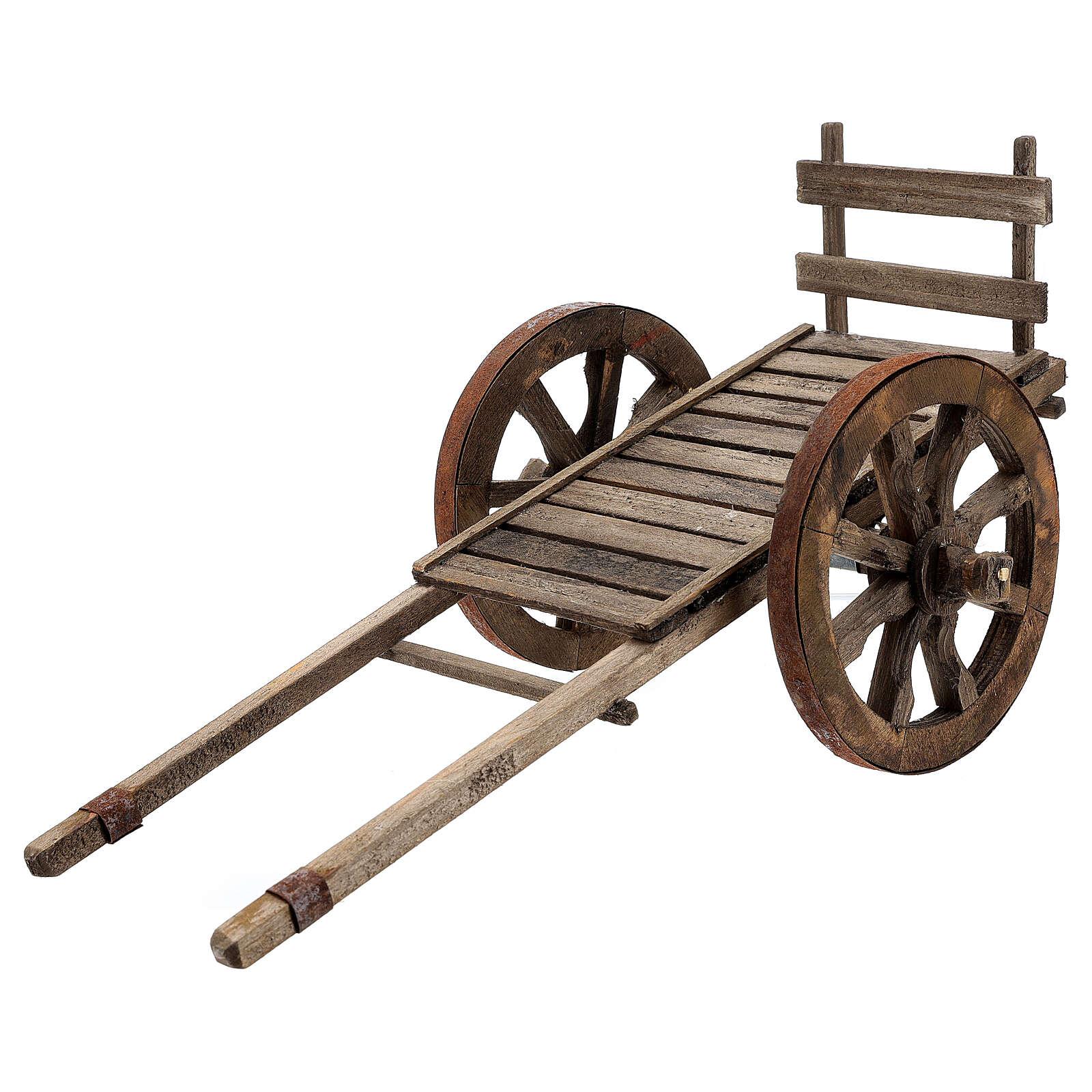 Carro vacío madera para belén de 20-25 cm belén napolitano 4