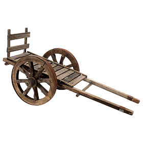 Carro vacío madera para belén de 20-25 cm belén napolitano s2