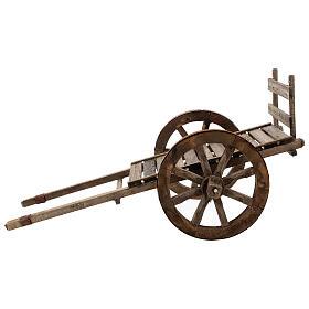 Carro vacío madera para belén de 20-25 cm belén napolitano s4