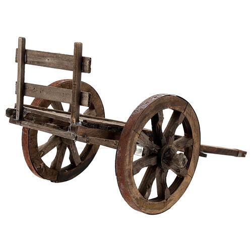 Carro vuoto legno per presepe di 20-25 cm presepe napoletano 3