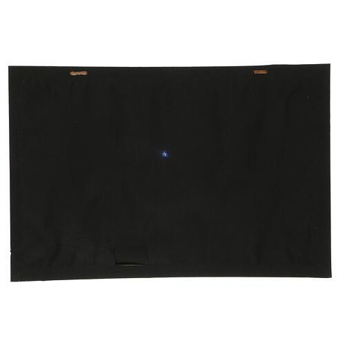 Fondale notte stellata e cometa illuminato 40x60 cm 4