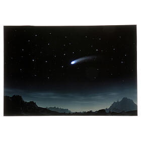 Starry night backdrop with illuminated comet, 40x60 cm s1