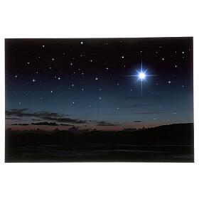Fondo iluminado montañas y estrella polar 40x60 cm s1