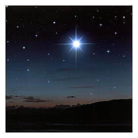Fondo iluminado montañas y estrella polar 40x60 cm s2