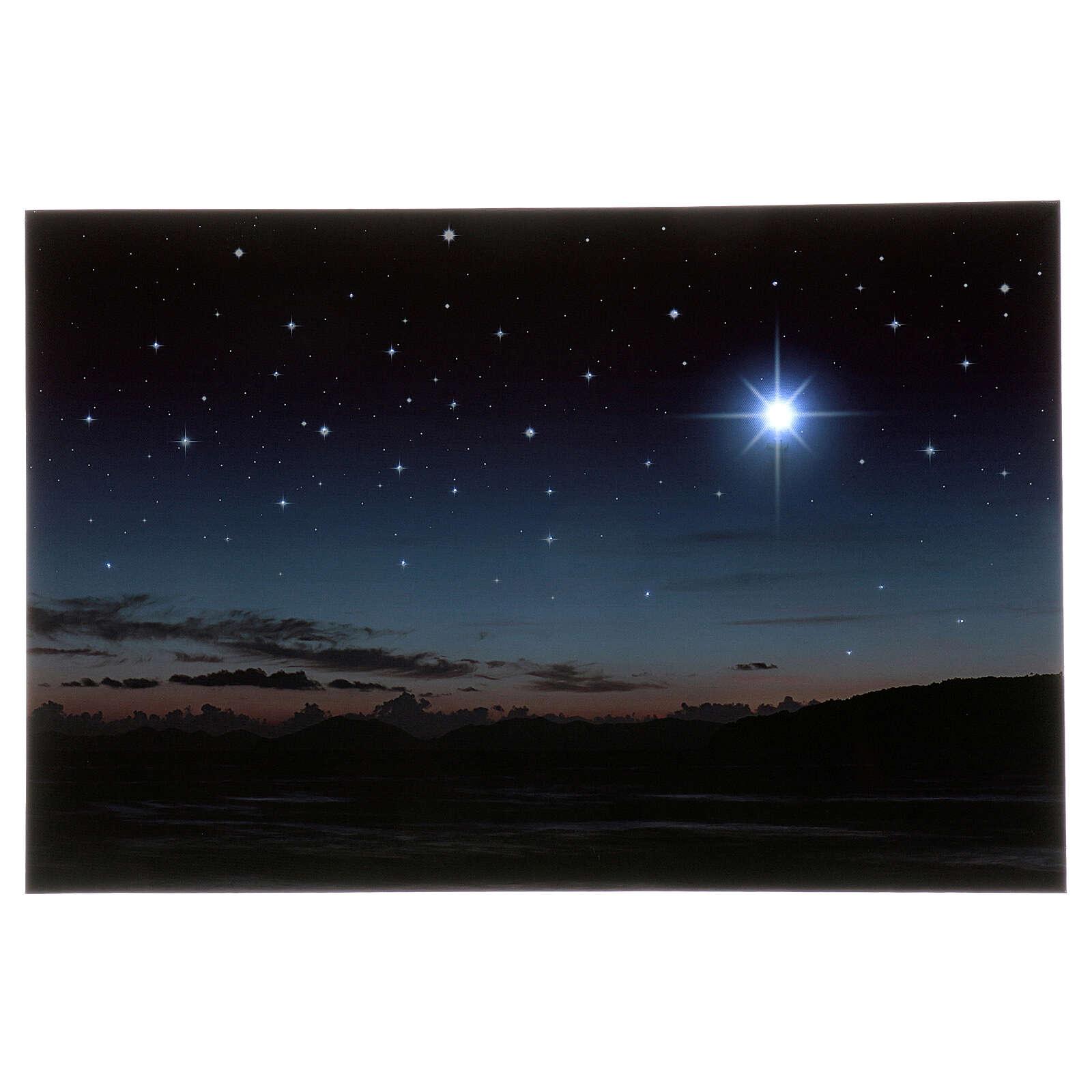 Illuminated backdrop mountains and pole star, 40x60 cm 4