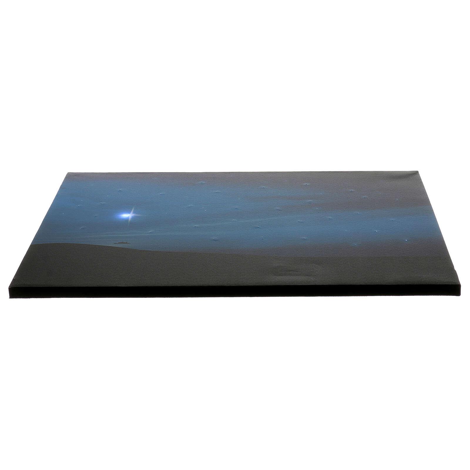 Toile de fond comète et montagnes avec éclairage 40x60 cm 4