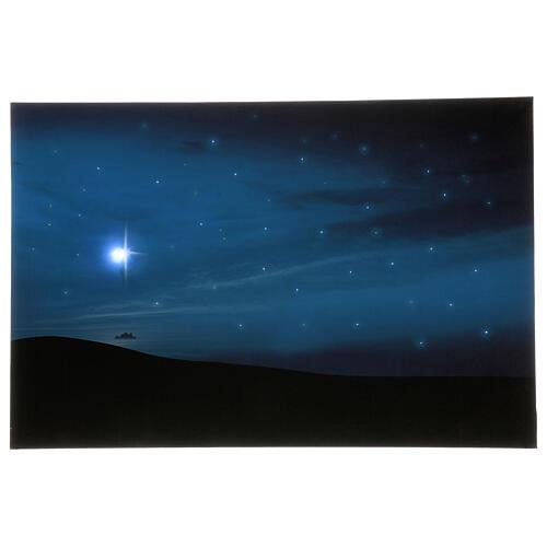 Toile de fond comète et montagnes avec éclairage 40x60 cm 1