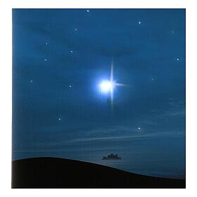 Fondale cometa e montagne con illuminazione 40x60 cm s2