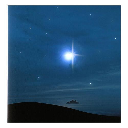 Fondale cometa e montagne con illuminazione 40x60 cm 2