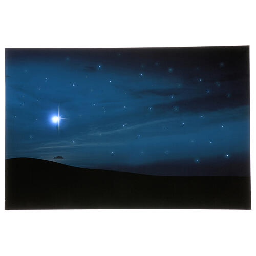 Lighted backdrop mountain and comet, 40x60 cm 1