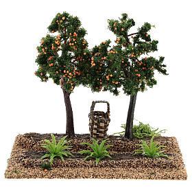 Frutteto arance 15x15x10 cm presepi 6-8 cm s1