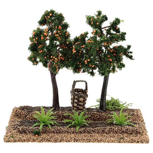 Frutteto arance 15x15x10 cm presepi 6-8 cm 1