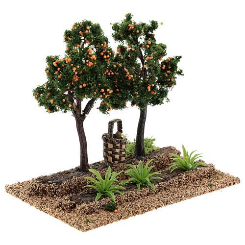 Frutteto arance 15x15x10 cm presepi 6-8 cm 3