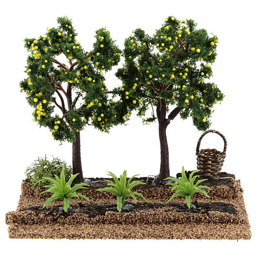 Lemon orchard figurine, 6-8 cm nativity 15x15x10 cm 1