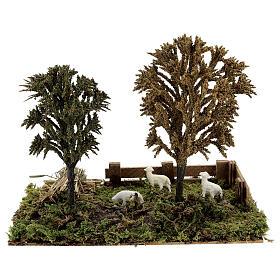 Miniature grove with sheep, 8-10 cm nativity 25x20x15 cm s1
