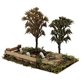 Miniature grove with sheep, 8-10 cm nativity 25x20x15 cm s2
