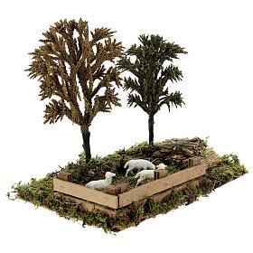 Miniature grove with sheep, 8-10 cm nativity 25x20x15 cm s3