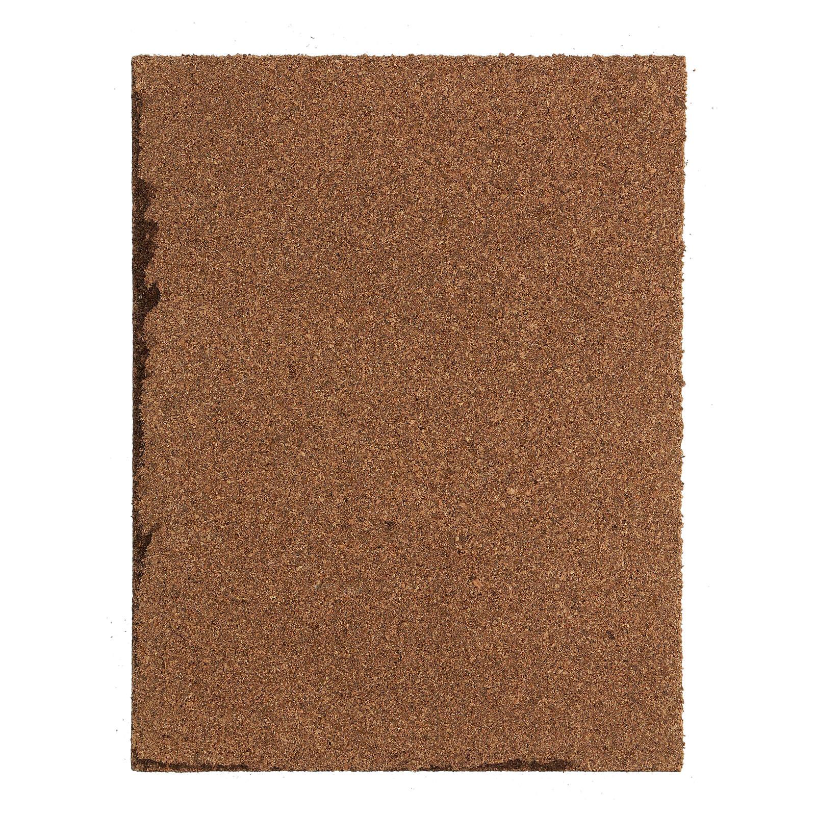 Suelo adoquines grises panel corcho belén 35x25x1 cm 4