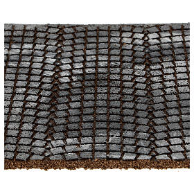 Suelo adoquines grises panel corcho belén 35x25x1 cm s2