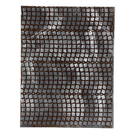 Pavimento sanpietrini grigi pannello sughero presepe 35x25x1 cm s1