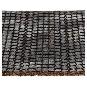 Pavimento sanpietrini grigi pannello sughero presepe 35x25x1 cm s2