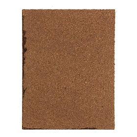 Pavimento sanpietrini grigi pannello sughero presepe 35x25x1 cm s3