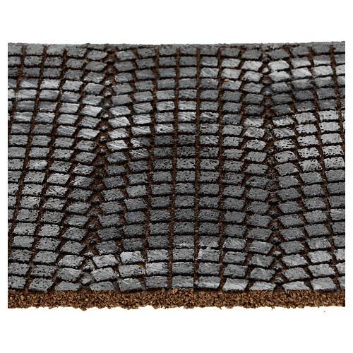 Pavimento sanpietrini grigi pannello sughero presepe 35x25x1 cm 2