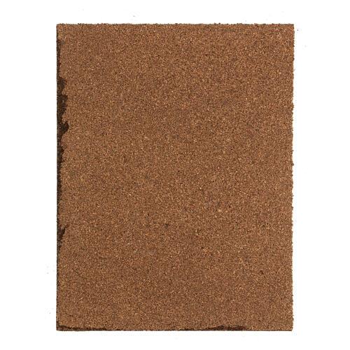 Pavimento sanpietrini grigi pannello sughero presepe 35x25x1 cm 3