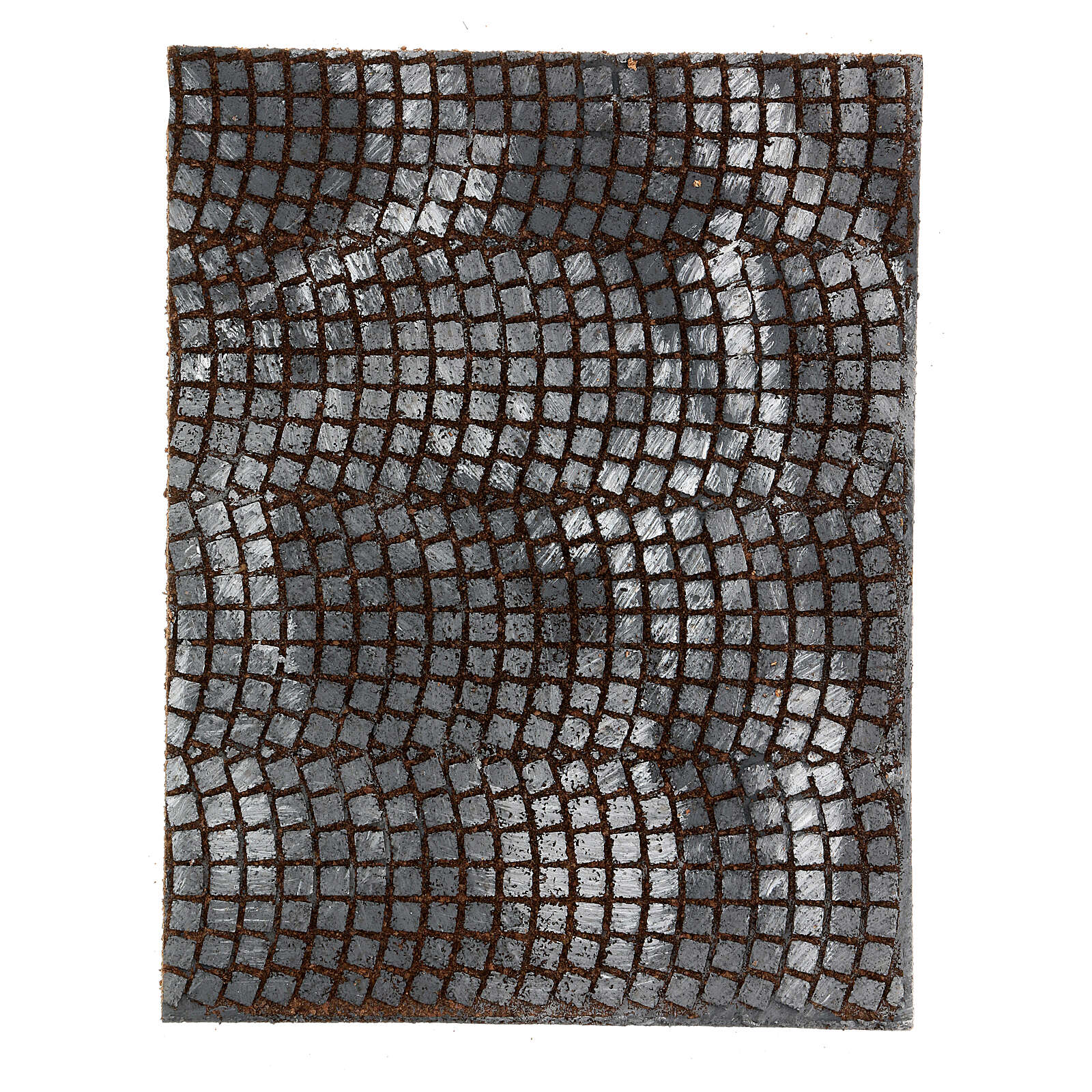 Pavimentação pedras cinzentas painel cortiça para presépio; medidas: 33x25x1 cm 4