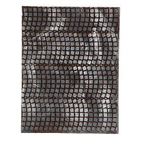 Pavimentação pedras cinzentas painel cortiça para presépio; medidas: 33x25x1 cm s1