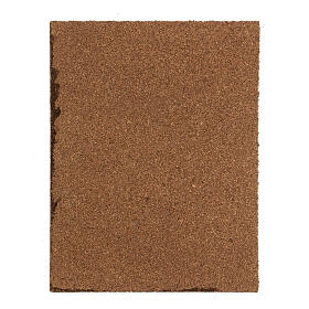 Pavimentação pedras cinzentas painel cortiça para presépio; medidas: 33x25x1 cm s3