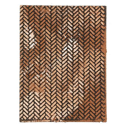 Panneau liège crèche briques à chevrons 35x25x1 cm 1