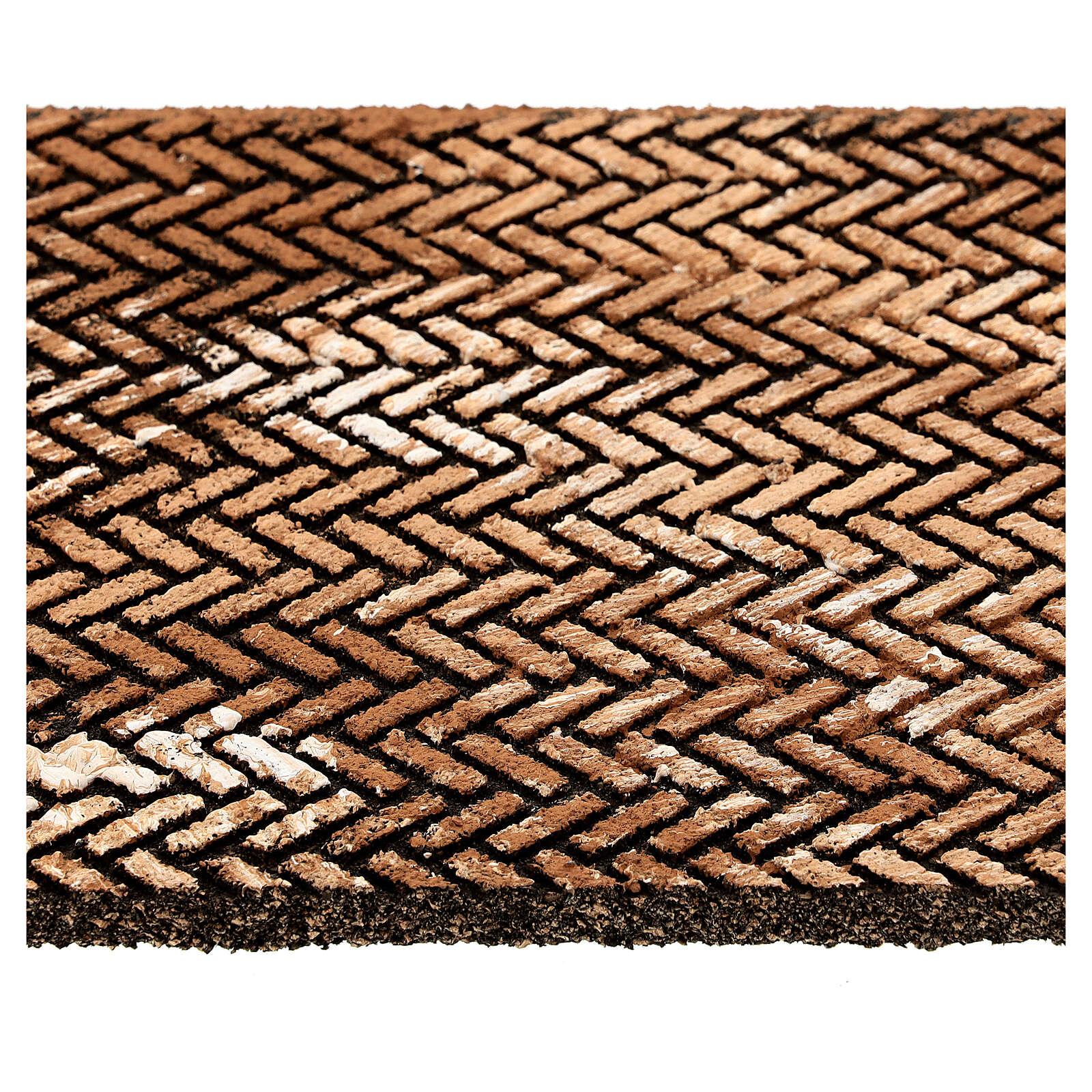 Pannello sughero presepe mattoni lisca di pesce 35x25x1 cm 4