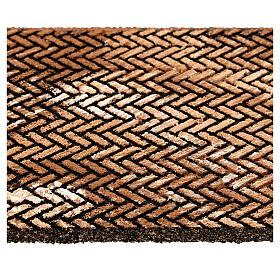 Pannello sughero presepe mattoni lisca di pesce 35x25x1 cm s2