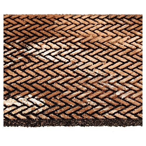 Pannello sughero presepe mattoni lisca di pesce 35x25x1 cm 2