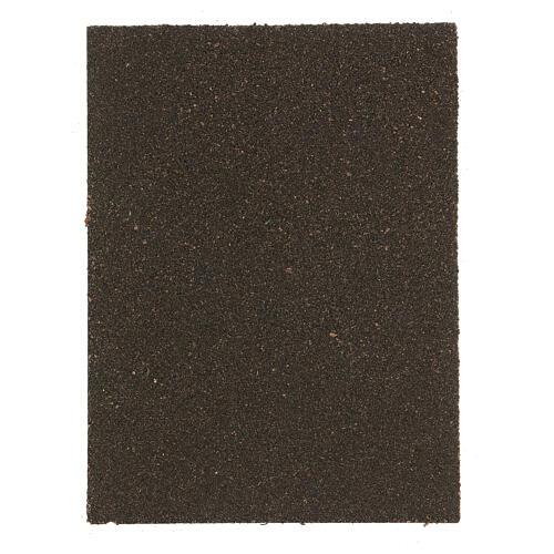 Pannello sughero presepe mattoni lisca di pesce 35x25x1 cm 3