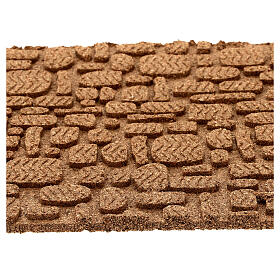 Pannello sughero muro pavimento fai da te mosaico 35x25 cm s2