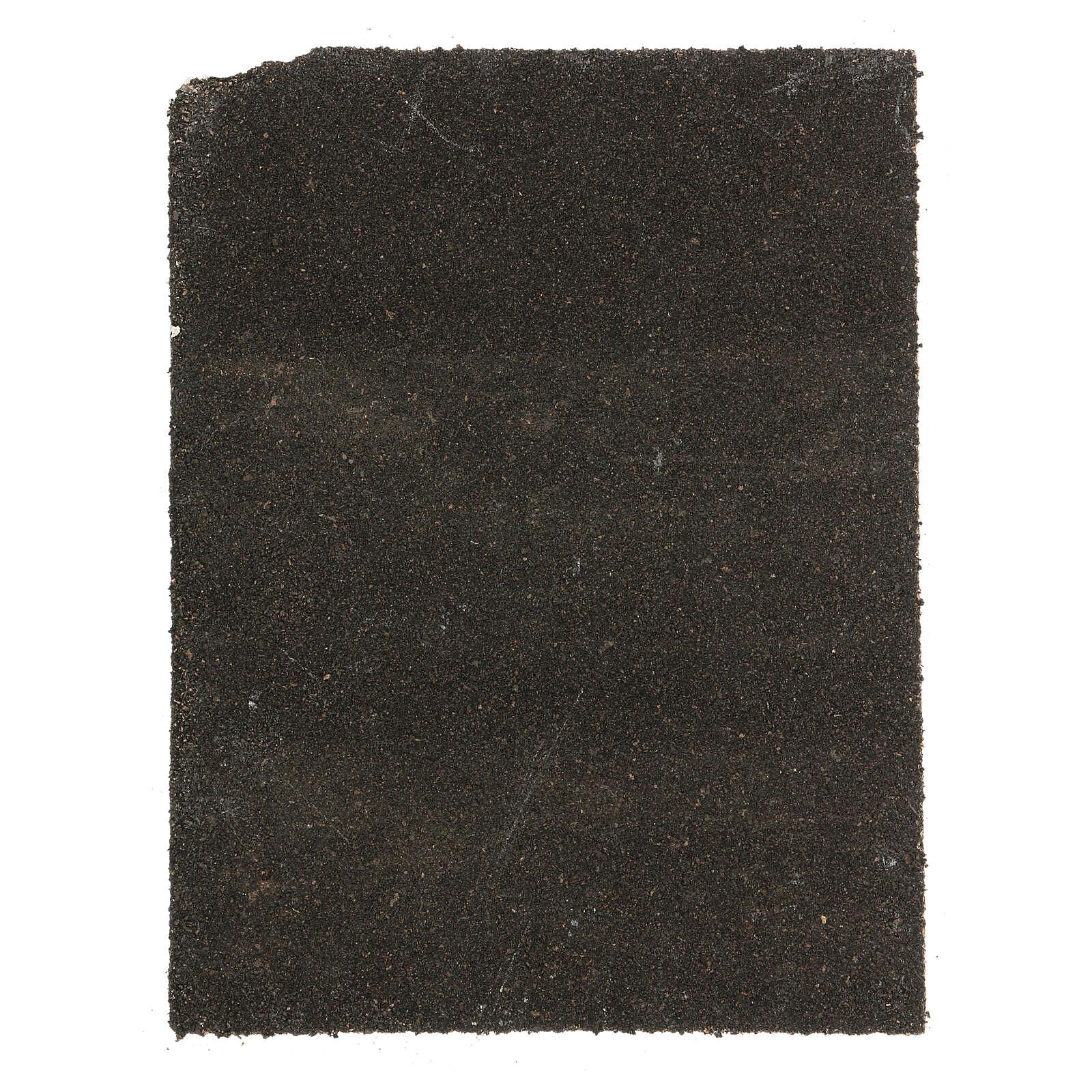 Pannello sughero lastricato bianco presepe 35x25 cm 4