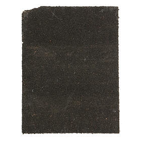 Pannello sughero lastricato bianco presepe 35x25 cm s3