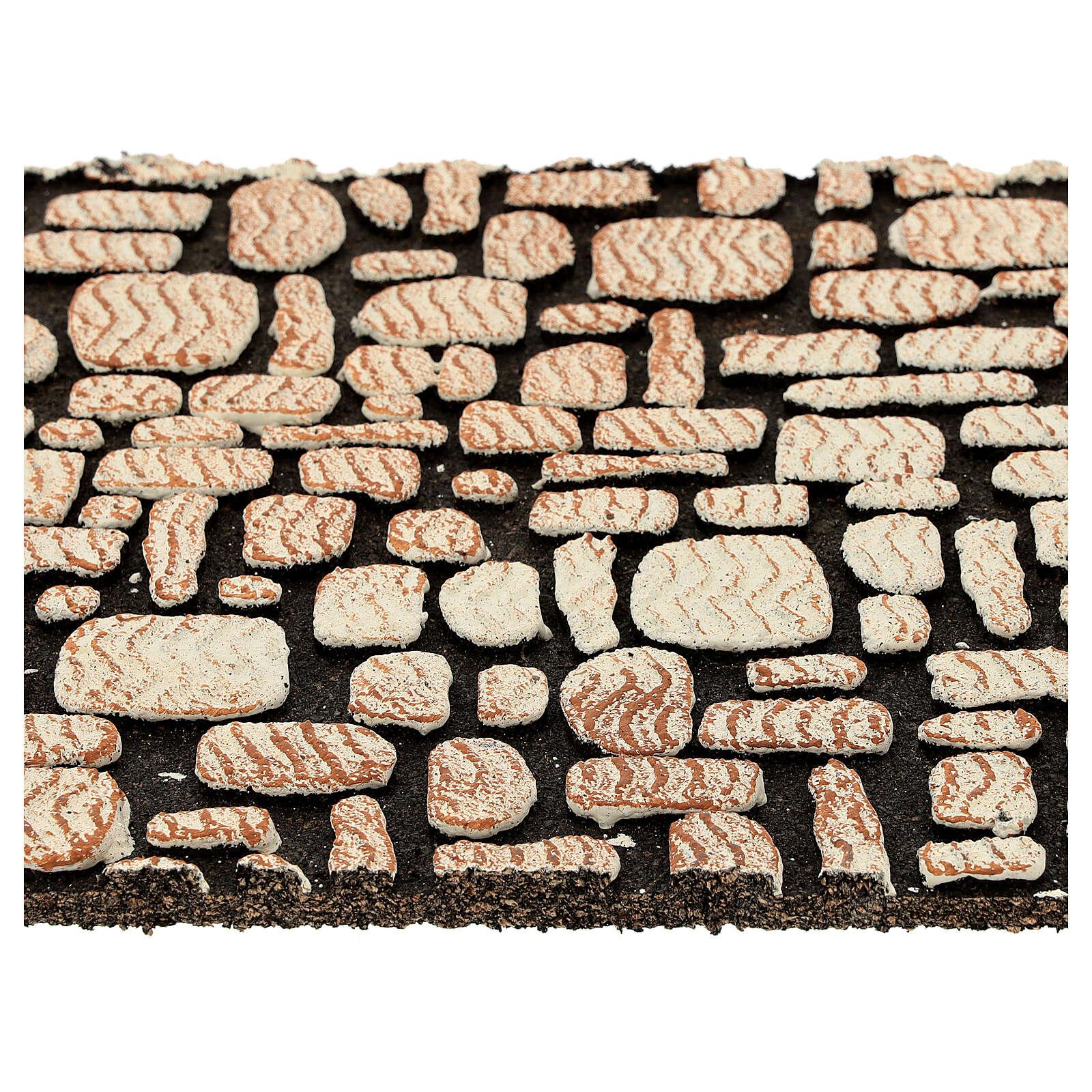 Painel cortiça pedras brancas para presépio 33x25 cm 4