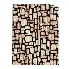Painel cortiça pedras brancas para presépio 33x25 cm s1