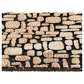 Painel cortiça pedras brancas para presépio 33x25 cm s2