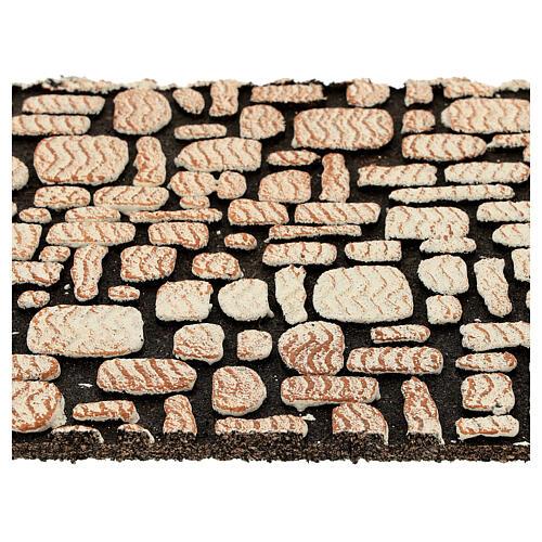 Painel cortiça pedras brancas para presépio 33x25 cm 2