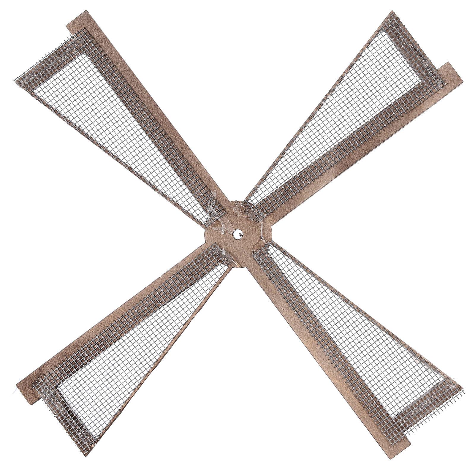 Pá para moinho de vento miniatura presépio estilo mediterrâneo 20x20 cm 4