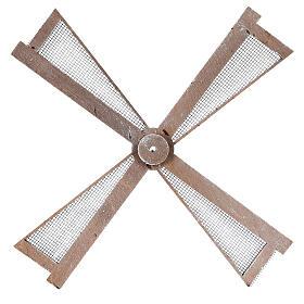 Pá para moinho de vento miniatura presépio estilo mediterrâneo 20x20 cm s1