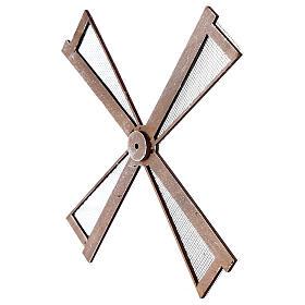 Pá para moinho de vento miniatura presépio estilo mediterrâneo 20x20 cm s2